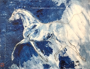Into the blue Tableaux - Chevaux (horizontaux) - Graziella Bordignon